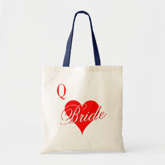 Rainha dos corações que wedding a sacola para a no bolsas de lona