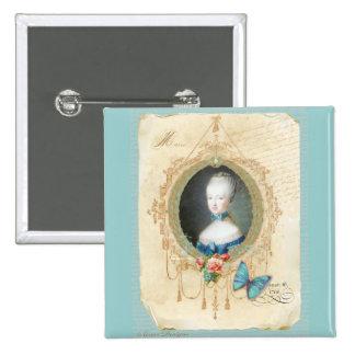 Rainha nova Marie Antoinette Bóton Quadrado 5.08cm