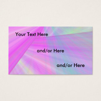 Raios coloridos cartão de visita