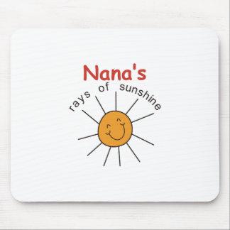 Raios de Nanas de luz do sol Mouse Pad