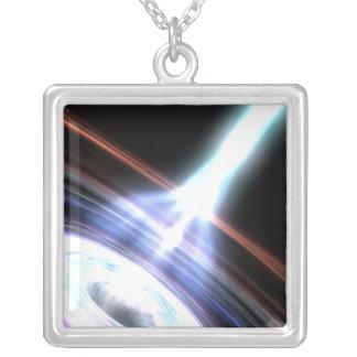 Raios gama nos núcleos galácticos 2 colar banhado a prata