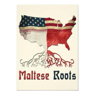 Raizes maltesas americanas convite 12.7 x 17.78cm