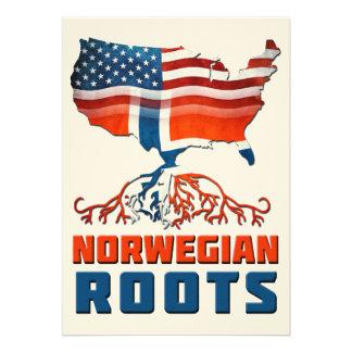 Raizes norueguesas americanas convites personalizados