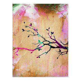 Ramo de árvore cartão postal
