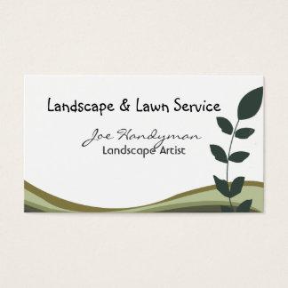 Ramo profissional, verde, natureza da paisagem cartão de visitas