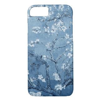 Ramos da amêndoa de Van Gogh na flor (azul) Capa iPhone 7