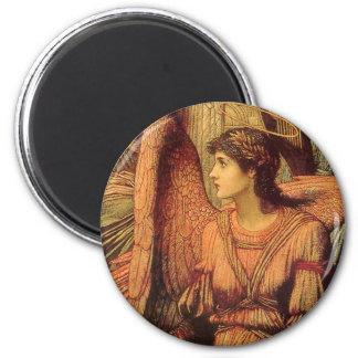 Ramparts da casa do deus, detalhe do anjo por ímã redondo 5.08cm