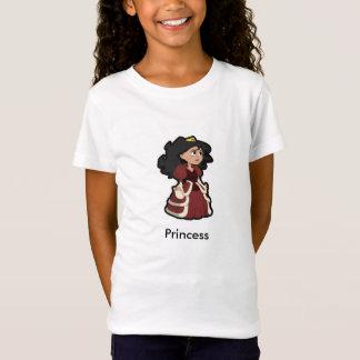 Rapariga branca Shirt Princess Camiseta