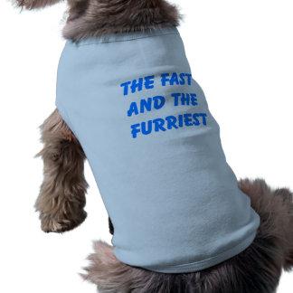 Rápido e mais furriest camisa sem mangas para cachorro