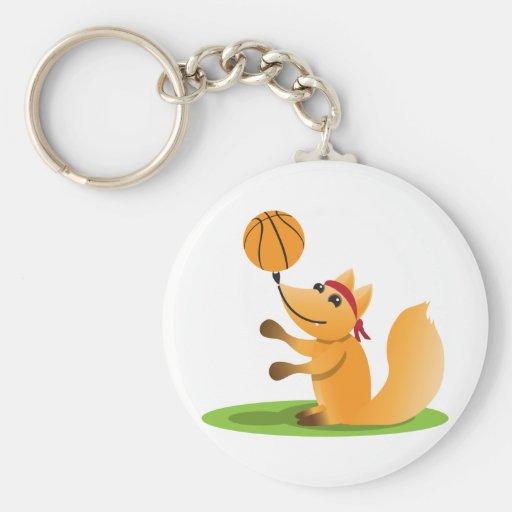 Raposa do basquetebol chaveiro