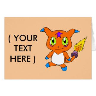 Raposa-monstro bonito cartão comemorativo