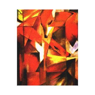 Raposas por canvas de belas artes de Franz Marc