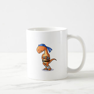 Raptor adolescente do ninja do mutante! caneca de café