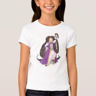 Rapunzel preto com o tshirt das meninas das