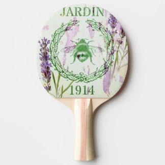 Raquete De Ping Pong abelha francesa chique do vintage da lavanda do