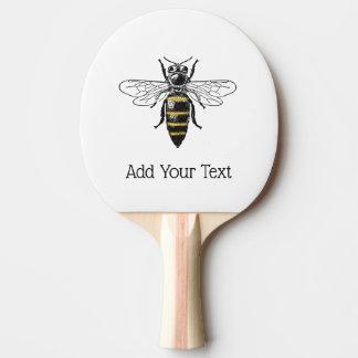 Raquete De Ping Pong Brasão heráldica formal C da abelha #2 do vintage