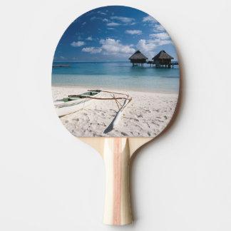Raquete De Ping Pong Bungalows da praia Motu Toopua