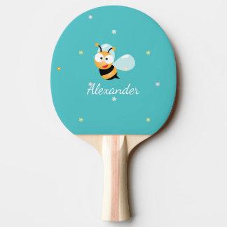 Raquete De Ping Pong O doce bonito do verde azul Bumble desenhos