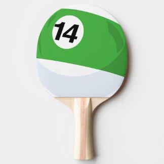 Raquete De Ping Pong O no. 14 da bola de bilhar listrou o verde