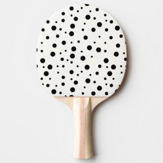 Raquete De Ping-pong Pá de Pong do sibilo, parte traseira preta da