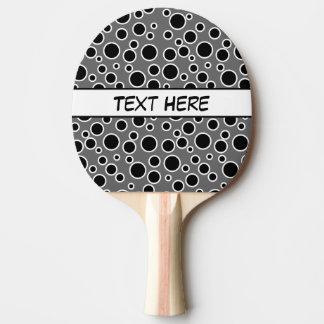 Raquete De Ping-pong Pontos preto e branco customizáveis