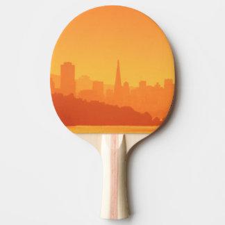 Raquete De Ping Pong Por do sol brilhante de San Francisco
