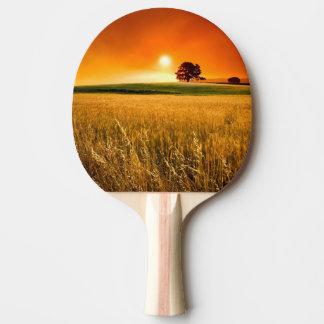 Raquete De Ping Pong Por do sol vermelho-sangue