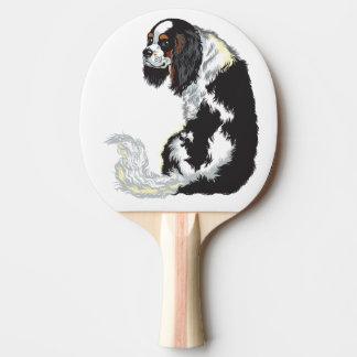 Raquete De Ping-pong spaniel de rei Charles descuidado