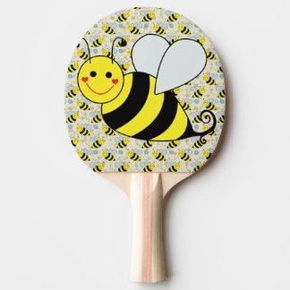 Raquete De Tênis De Mesa Bonito Bumble a abelha com teste padrão