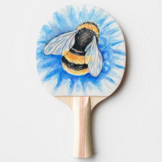 Raquete De Tênis De Mesa Bumble a arte da aguarela da abelha