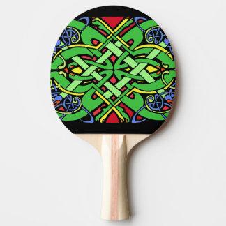Raquete De Tênis De Mesa Nó celta irlandês ornamentado colorido