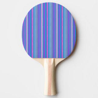 Raquete De Tênis De Mesa pá listrada cor-de-rosa azul do pong do sibilo