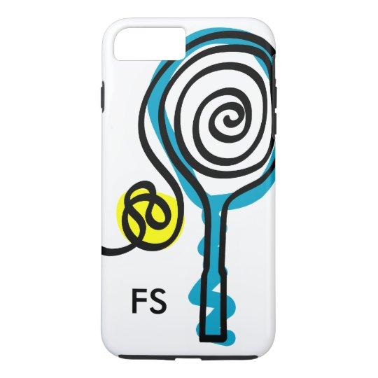 Raquete e bola personalizadas de tênis do capa iPhone 7 plus
