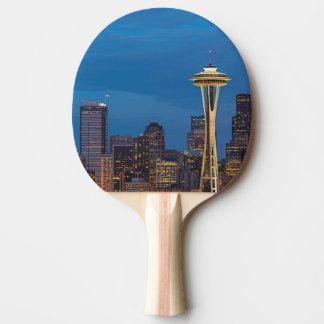 Raquete Para Ping Pong A agulha do espaço e o Seattle do centro
