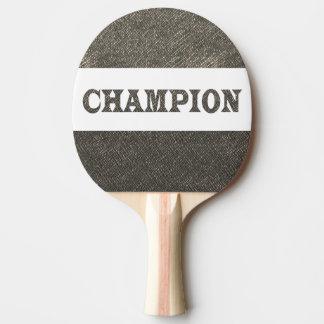 Raquete Para Ping-pong A parte traseira vermelha Lotus dourado da