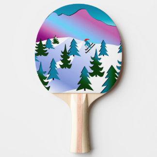 Raquete Para Ping-pong Arte da inclinação do esqui na pá de Pong do