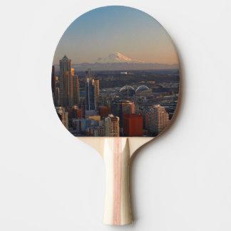 Raquete Para Ping Pong Ideia aérea da skyline 2 da cidade de Seattle