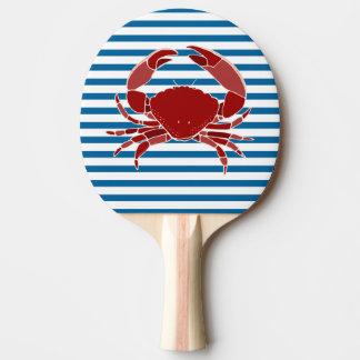 Raquete Para Ping-pong Listra horizontal azul e branca da lagosta e do