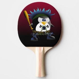 Raquete Para Ping Pong Pá azul de Pong do sibilo do pinguim da anarquia