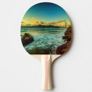 Raquete Para Ping-pong Por do sol na praia do padeiro