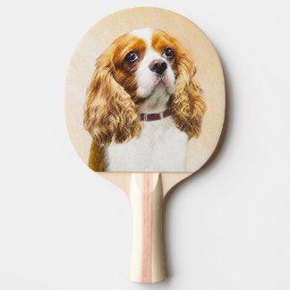 Raquete Para Ping-pong Spaniel de rei Charles descuidado