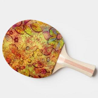Raquete Para Ping-pong vetor retro europeu das flores do vetor original