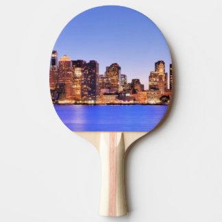 Raquete Para Ping-pong Vista do distrito financeiro de Boston do centro