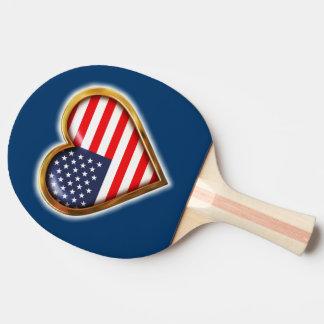 Raquete Para Tênis De Mesa Coração americano