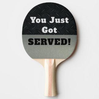 Raquete Para Tênis De Mesa Engraçado Smack a conversa que você obteve a pá