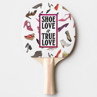 Raquete Para Tênis De Mesa O amor dos calçados é pá verdadeira de Pong do
