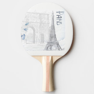 Raquete Para Tênis De Mesa torre Eiffel