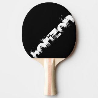 raquete preta e cor de laranja personalizar horizo raquete de ping pong