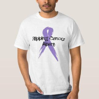 Rasgando o cancer separado camiseta