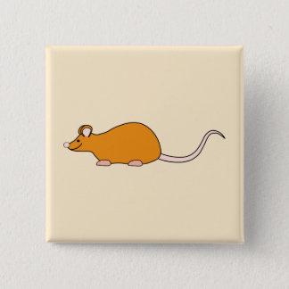 Rato do animal de estimação. Cor de canela Bóton Quadrado 5.08cm